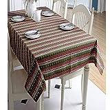 BH-JJSMGS, staubdichte Baumwolle Leinen Tischdecke Cartoon Polyester Baumwolle, Weihnachtsbaum grün Hirsch Geschenkbox, gedruckte rechteckige Tischdecke Tischdecke90 * 90cm