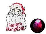 Pin's lumineux clignotant à LED (b-148) Santa's Kingdom broche fixation avec épeingle accessoire pour les fêtes de fin d'année Noel déguisement père Noël