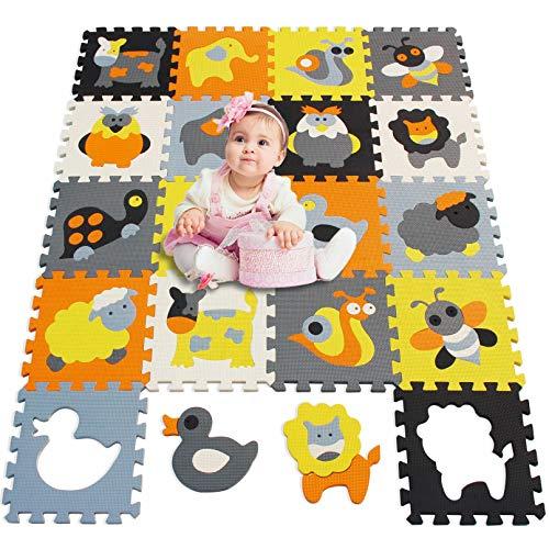 MU SHEN Alfombra Puzzle Bebe Suelo Goma Eva | Alfombra Infantil Puzzle...