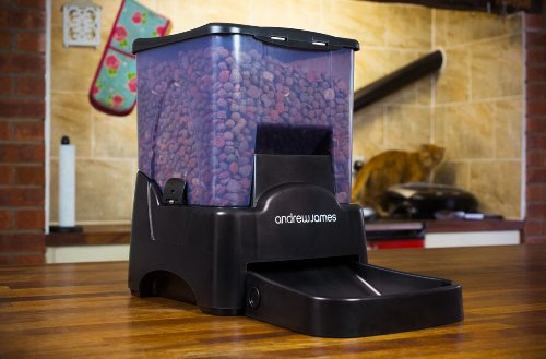 Andrew James Automatic Pet Feeder | Extra Large Pet Food Dispenser with Timer | 10.6L 90 Day Capacity | 10 Portion Sizes… 4