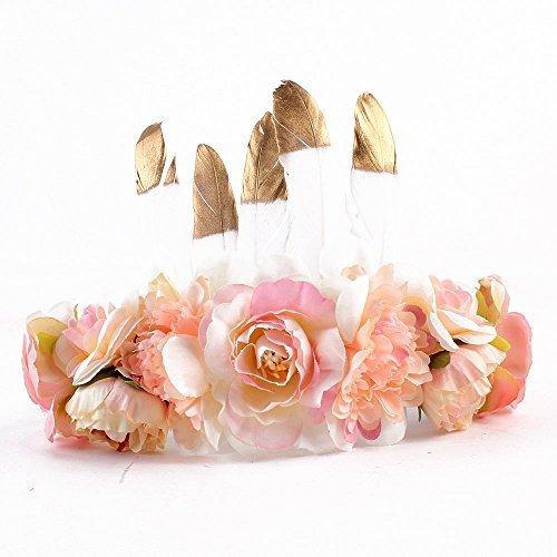 MoonyLI Eltern-Kind-Kinder-Haar-Accessoire Blume Stirnband Krone romantischen böhmischen Stil Haarkranz Band Girlande Kopfbedeckungen für das Festival Hochzeit -