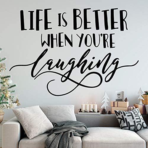 ljradj Creative Quotes Life is Better Wall Stickers Self Adhesive Art Wallpaper for Kids Rooms DIY Home Decoration Vinyl Art DecalL 43cm X 63cm (Mitsubishi Decal Kit)