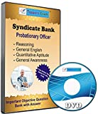 #1: Syndicate Bank PO Exam 2017, Important Objective Question Bank with Answer, in English DVD