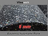 Bautenschutzmatte 8 mm - 1,25 m x 8 m | Gummimatte | Antivibrationsmatte