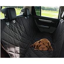 Manta de coche para perro,Fundas Impermeable de asiento para automóviles,Soft Non-Slip Durable Perros Cats Hammock Asiento trasero de la cubierta de protección para Coches, Camiones, Minivan(Negro)