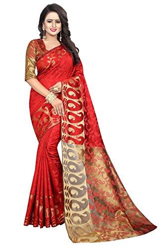 Being Banarasi Women's Party Wear Latest Design Jacquard Silk Saree(BB_5100_C)