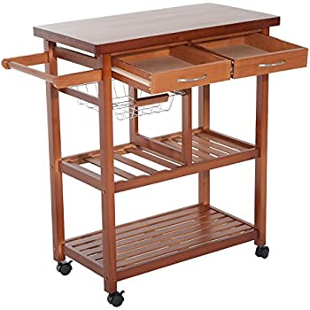 homcom servierwagen rollwagen k chenwagen k chentrolley. Black Bedroom Furniture Sets. Home Design Ideas