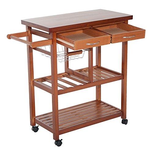 Homcom 05-0014,carrello da cucina, in legno, colore:...