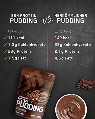 ESN Protein Pudding, Chocolate, 360 g - 5