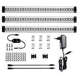 LEDGLE 12W LED Unterbauleuchte Schrankleuchte Küchenleuchte, LED Licht Leisten Set dimmbare, 900LM Warmweiß, 3er Pack