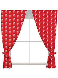 """Liverpool 54"""" Drop Curtains Crest Design by Forever Collectibles"""