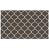 CRYSTAL ART 2teilige waschbar Teppich System-Gitter Gate Reichhaltige grau & weiß