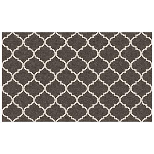 2teilige waschbar Teppich System-Gitter Gate Reichhaltige grau & weiß