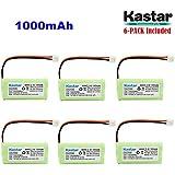 Kastar 6-PACK AAAX2 2.4V EH 1000mAh Ni-MH Rechargeable Battery For BT184342 BT284342 BT18433 BT28433 BT-1011 BT-1022 BT-1031 Vtech CS6229 DS6301 Uniden Wxi3077 ECT4066 DECT4096 Motorola Cordless Phone