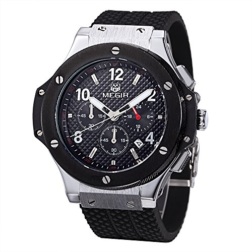 Megir - Herren -Armbanduhr- 3002silberschwarz
