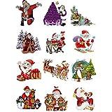 12 Bügelbilder Weihnachten für helle Textilien