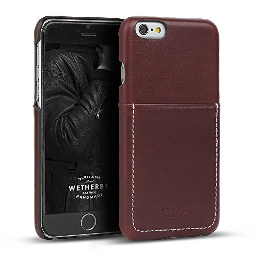 Custodia iPhone 6s/6(11,9cm) Designskin Wetherby tasca bar-type: 100% artigianale ID scomparto per carta di credito in vera pelle bovina semplice unico cesto Apple iPhone 6case