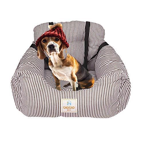 FRISTONE Hunde Autositz Kleine Hunde Sicherheit Hundsitz Vordersitz für Dackel Bulldogge Weich Reisebett Erhöht Autositze