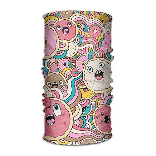 Vidmkeo Bandeau Unisex Stylish Donut Doodle Quick Dry Microfiber Headwear Outdoor Magic Bandana Neck Gaiter Head Wrap Headband Scarf Face Mask Ultra Soft Elastic Handscarf Outdoor19