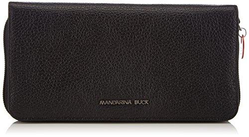 Mandarina Duck - Mellow Leather Portafoglio, Portafoglio da donna, nero (black), 4x10x19 cm (B x H x T)