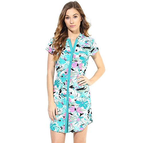 The Vanca Women Casual Shirt Dress In Printed Fabric  available at amazon for Rs.304