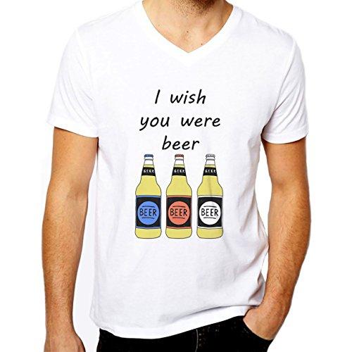 Wish You Were Beer Grillen Herren T-Shirt Herrenshirt Funshirt Shirtstreet24