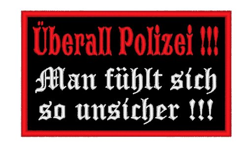 Aufnäher / Patch 10 x 6cm Überall Polizei
