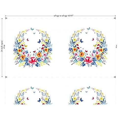 Michael Miller–Garden Party–Floral Kranz 60cm Panel
