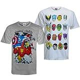 Marvel Comics - Camiseta oficial para hombre - Con personajes de los cómics