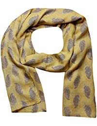 Women Scarf Feathers Print Design Lightweight Scarves for Lady