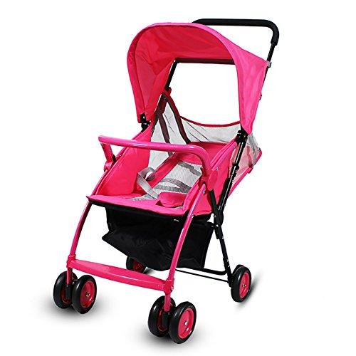 Anna Baby-Spaziergänger-Reise-System Multifunktions-Babywagen-Licht-Auto-Baby-Falten-tragbarer Wagen-vier Rundungs-Warenkörbe Verstellbarer Kinderwagen Kinderwagen ( Farbe : Style-3 )