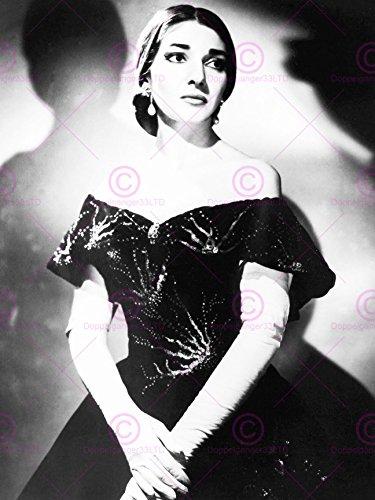 PHOTOGRAPHY MARIA CALLAS OPERA SINGER BLACK WHITE PORTRAIT 18X24'' PLAKAT POSTER ART...