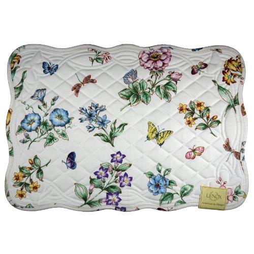 Lenox Butterfly Meadow Quilt, Platzdeckchen 4Stück, elfenbeinfarben Butterfly Meadow Serviette