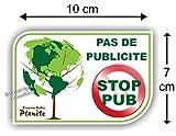 Sticker Autocollant ' Pas de Publicité - Stop Pub '