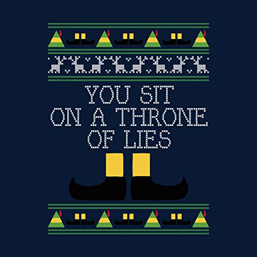 Throne Of Lies Elf Quote Christmas Knit Men's Vest Navy Blue