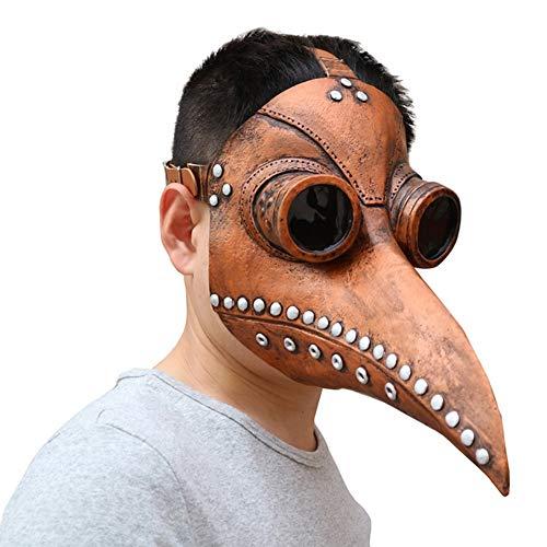 Pest Kostüm Dr - KaiQiang-UK Schnabelmaske Plague Doctor Mask Pest-Maske Doktor Party Fasching Cosplay Venedig-Maske Karneval PU Verkleidung Steampunk Kostüm Zubehör