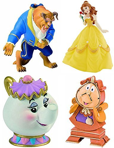 Bullyland Beauty and the Beast Set (4 parts) 12463 12401 12474 12563