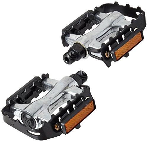 Point 09006000 - Pedal para MTB y Cross (aluminio con carcasa), color plateado y negro
