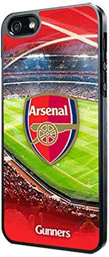 Hartschalenhülle für Apple iPhone 5/5S, mit Logo-Aufdruck FC Arsenal, Rot