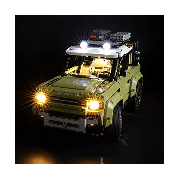 BRIKSMAX Kit di Illuminazione a LED per Lego Technic Land Rover Defender,Compatibile con Il Modello Lego 42110… 1 spesavip