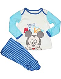 Baby Junge für Disney Mickey Mouse 'time for Bett' Pyjama PJs Set Größe