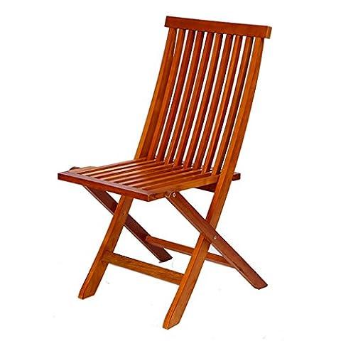 WYF-Meubles de salon Chaise pliante extérieure en bois massif Patio Loisirs Balcon Foldage de meubles de jardin WYF-chaise ( Couleur : 1 Piece )