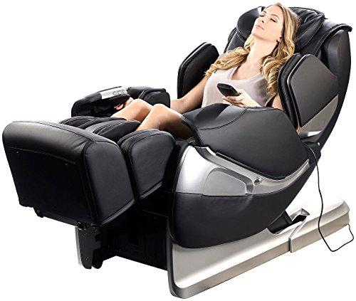 newgen medicals Premium-Ganzkörper-Massagesessel GMS-300.bt mit Bluetooth, schwarz