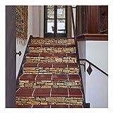 SERFGTFH Treppen Sticker Stein Portes Dekoration Landschaft 3D Home Dekorative Treppe Wand Aufkleber, Pasten-PVC Wasserdicht Wand Aufkleber