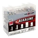 ANSMANN Alkaline Batterie Box 1.5V / Longlife Alkalibatterien / Sparpaket in einer robusten Vorratsbox inkl. 14x Micro AAA 12x Mignon AA 4x Baby C 4x Mono D 1x E-Block 9V / 35 Stück