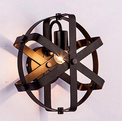 ZT Appliques cage Créatif LED abat-jour E27 Métal Industriel Intérieur Chevet Fixation Éclairage Décoration