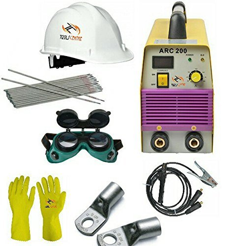 Tools Centre SN200 / WS200 Compact Dynamic 200Amp Welding Inverter Machine-Arc 200 With Free Safety Equipments & Welding Accessories combo offer. Combo Green Compact