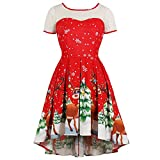 Best Tools Supply V Neck T Shirts - ❤️Merry Christmas❤️ Womens Vintage Christmas Elk Printed Dress Review