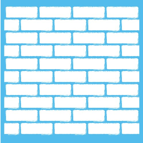 Americana Decor Brick Wand Schablone, blau, 12x 12Zoll