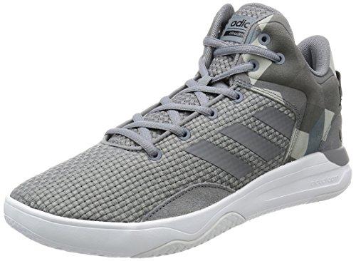 adidas Herren Sneaker CLOUDFOAM REVIVAL MID grey/grey/core black 41 1/3 (Basketball Adidas Heels)